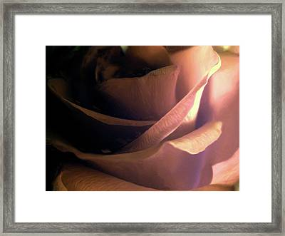 Framed Print featuring the digital art Fleur D'amour by Holly Ethan