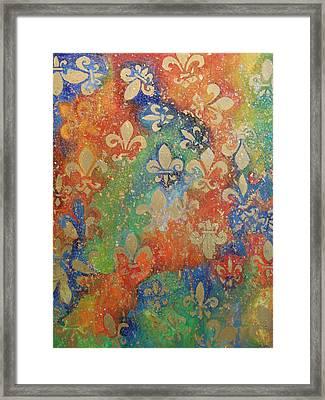 Fleur De Arcencial Framed Print by Made by Marley