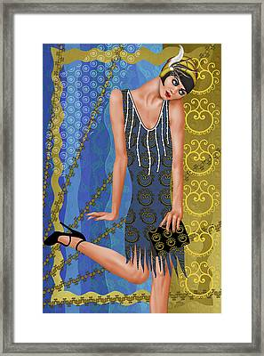 Fleur De Bleue Framed Print by Troy Brown