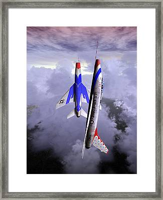 Framed Print featuring the digital art Fleur-de-lis 02 by Mike Ray