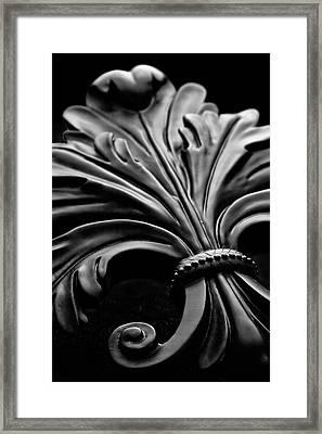 Fleur De Lis II Framed Print by Tom Mc Nemar