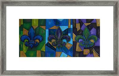 Fleur De Lis Trinity Framed Print by Patti Schermerhorn