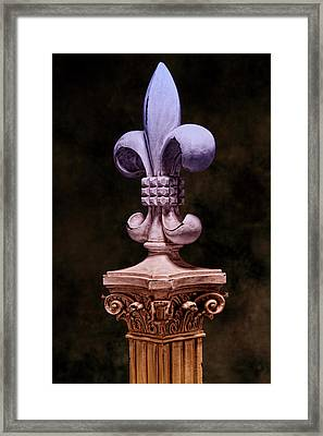 Fleur De Lis V Framed Print by Tom Mc Nemar