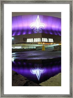 Fleur Di Lis Reflected Framed Print by Pixel Perfect by Michael Moore