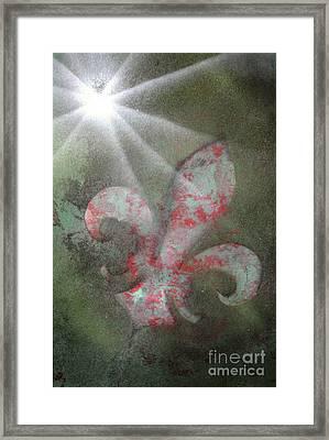 Fleur Di Lis Framed Print by Tbone Oliver
