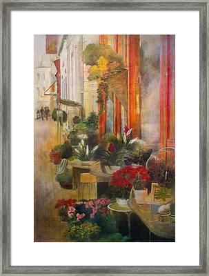 Fleuriste Framed Print by Victoria Heryet
