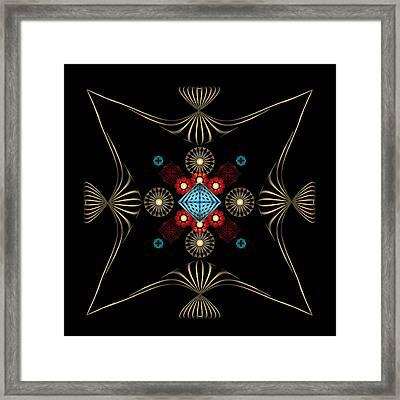 Framed Print featuring the digital art Fleuron Composition No. 1 by Alan Bennington
