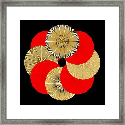 Framed Print featuring the digital art Fleuron Composition No. 15 by Alan Bennington