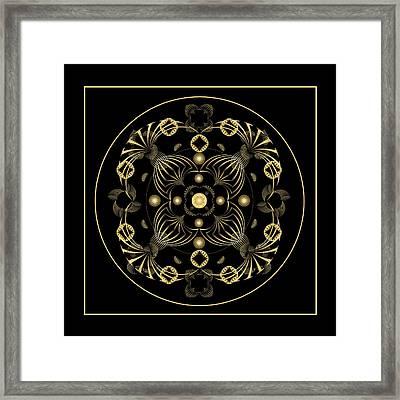 Framed Print featuring the digital art Fleuron Composition No. 20 by Alan Bennington