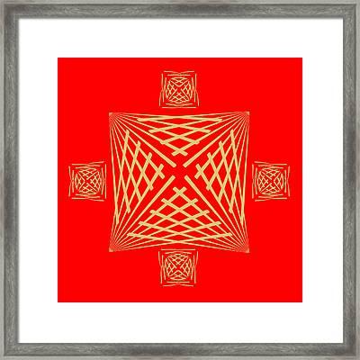 Framed Print featuring the digital art Fleuron Composition No. 22 by Alan Bennington