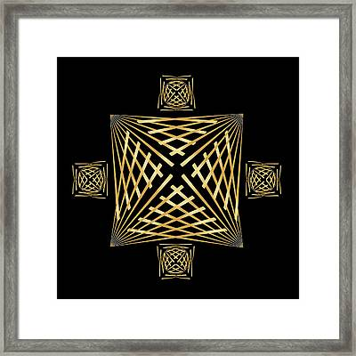 Framed Print featuring the digital art Fleuron Composition No. 24 by Alan Bennington