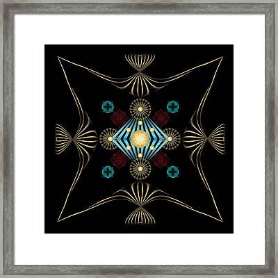 Framed Print featuring the digital art Fleuron Composition No. 3 by Alan Bennington