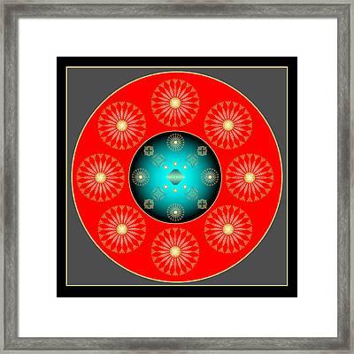 Framed Print featuring the digital art Fleuron Composition No. 37 by Alan Bennington