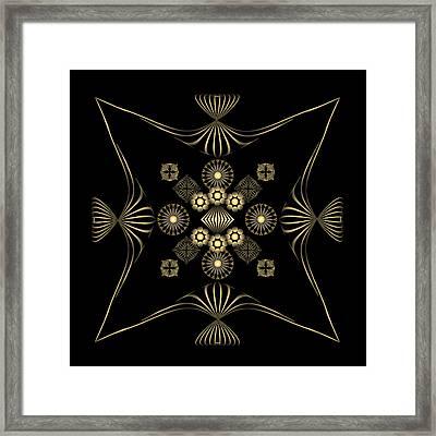 Framed Print featuring the digital art Fleuron Composition No. 4 by Alan Bennington