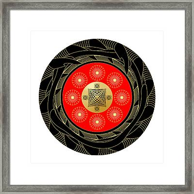 Framed Print featuring the digital art Fleuron Composition No. 44 by Alan Bennington