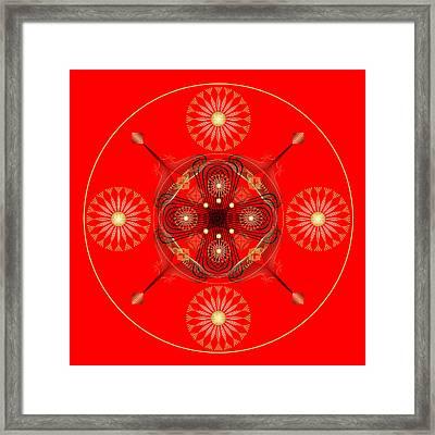 Framed Print featuring the digital art Fleuron Composition No. 58 by Alan Bennington