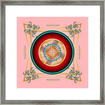 Framed Print featuring the digital art Fleuron Composition No. 67 by Alan Bennington