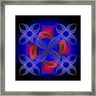 Framed Print featuring the digital art Fleuron Composition No. 71 by Alan Bennington