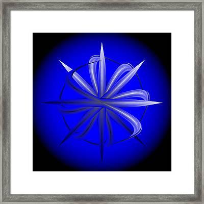 Framed Print featuring the digital art Fleuron Composition No. 77 by Alan Bennington