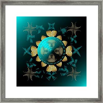 Framed Print featuring the digital art Fleuron Composition No. 8 by Alan Bennington