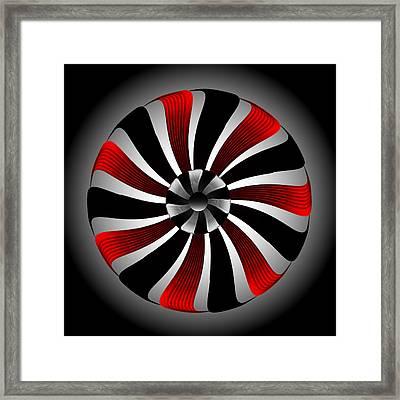Framed Print featuring the digital art Fleuron Composition No. 80 by Alan Bennington