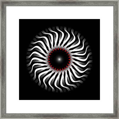 Framed Print featuring the digital art Fleuron Composition No. 82 by Alan Bennington