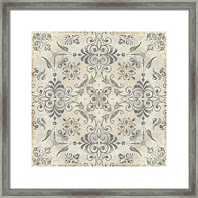 Fleurons IIi Framed Print by Mindy Sommers