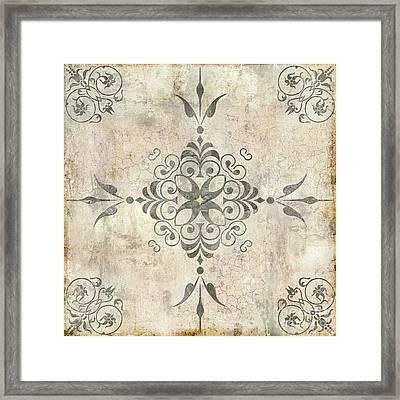 Fleurons Vi Framed Print by Mindy Sommers