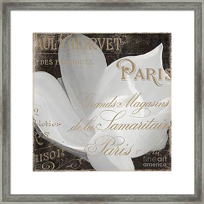 Fleurs Blanc Magnolia Framed Print by Mindy Sommers