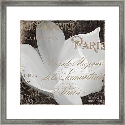 Fleurs Blanc Magnolia Framed Print