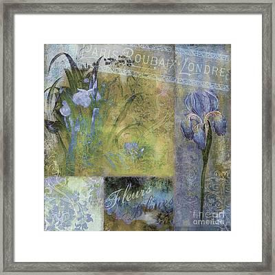 Fleurs Bleues I Framed Print