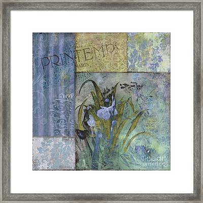 Fleurs Bleues II Framed Print by Mindy Sommers