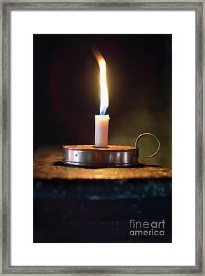 Flickering Flame Framed Print