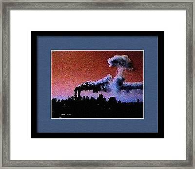 Flight 175 Mushroom Cloud Framed Example Framed Print by James Kosior