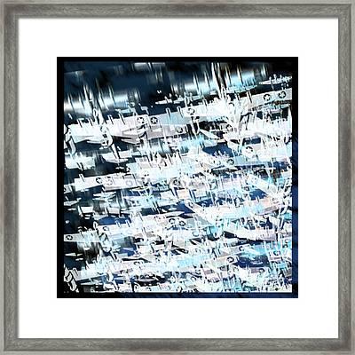 Flight Abstract Square Framed Print by Tony Rubino