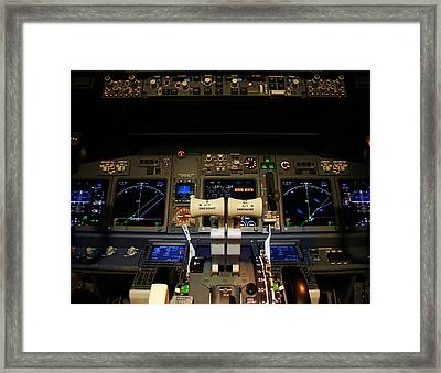 Flight Deck. Framed Print by Fernando Barozza