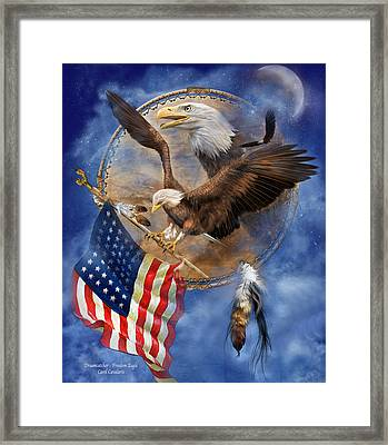 Flight For Freedom Framed Print by Carol Cavalaris