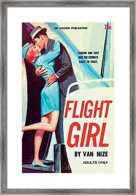 Flight Girl Framed Print