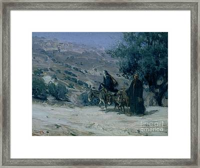 Flight Into Egypt Framed Print by Henry Ossawa Tanner