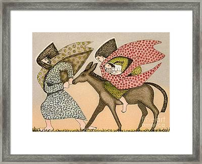 Flight Into Egypt I Framed Print by Gillian Lawson
