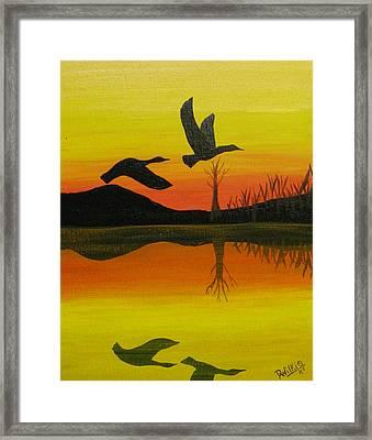 Flight Of Freedom Framed Print by Doug Wilkie