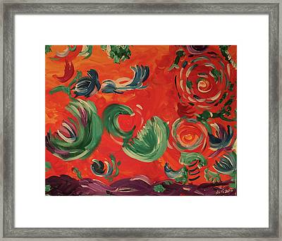 Flight Of Lotus Framed Print