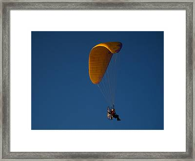 Flight Of Man Framed Print by Toni Jackson