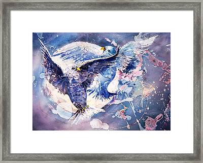 Flight Of The Doves Framed Print