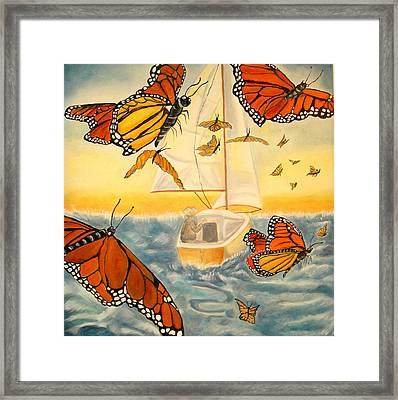 Flight Of The Monarchs Framed Print