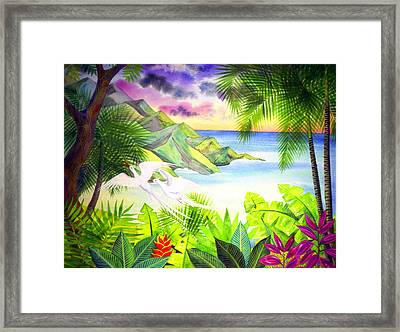 Flight Of The Red Billed Tropic Birds Framed Print by Jennifer Baird