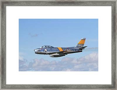 Flight Of The Sabre  Framed Print