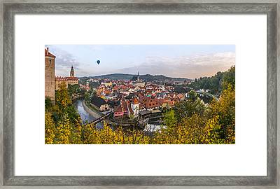 Flight Over The Medieval Town Framed Print