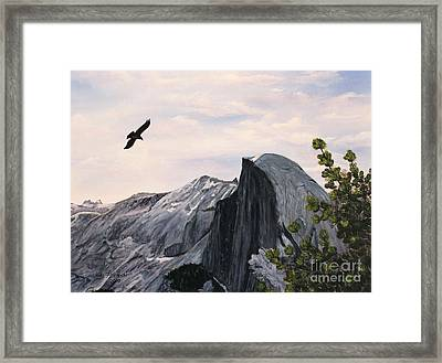Flight Over Yosemite Framed Print by Judy Filarecki