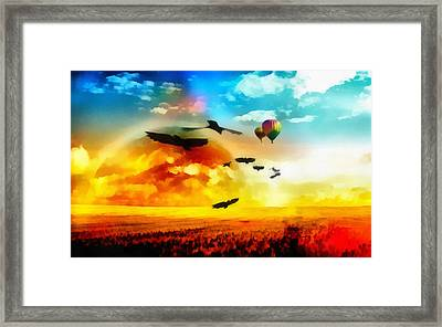 Flight Paths Framed Print